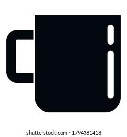 Survival steel mug icon. Simple illustration of survival steel mug vector icon for web design isolated on white background
