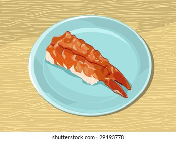 sushi (editable layers)