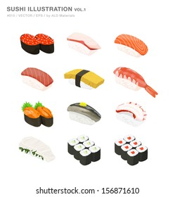 Sushi Illustration 01