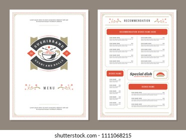 restaurant cafe menu fathers day theme stock vector royalty free