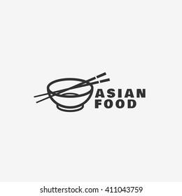 Sushi shop logo template design. Vector illustration.