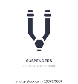 suspenders icon on white background. Simple element illustration from Fashion concept. suspenders icon symbol design.
