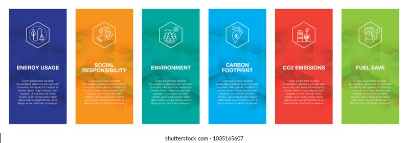 Sustainability Infographic Icon Set