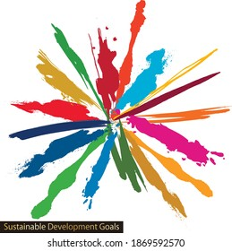 for Sustainable Development Goals CMYK specified color abstract background