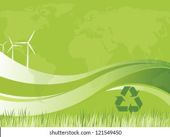 Sustainable energy background. Eolian. Wind