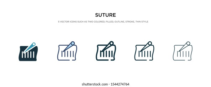 suture icon in different style vector illustration. two colored and black suture vector icons designed in filled, outline, line and stroke style can be used for web, mobile, ui