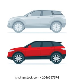 Suv Car side view illustration. Realistic, flat style design, vector car.