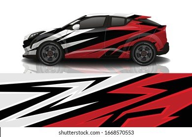 SUV Car Wrapping Decal Design