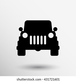 suv icon vector traffic vehicle illustration transport on white background.