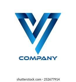SV company linked letter logo