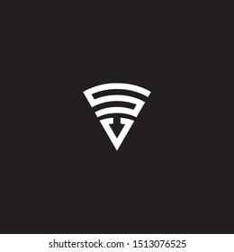 sv initial logo triangle vector modern