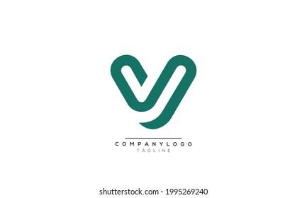SV initials monogram letter text alphabet logo design