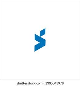 SV Letter Logo Design with Creative Modern