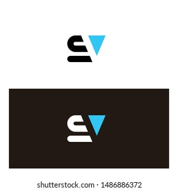 SV logo, with a modern style, simple SV icon