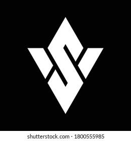 SV monogram logo. Illustrated vector logo. SV minimal logo concept