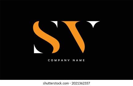SV, VS Abstract Letters Logo Monogram