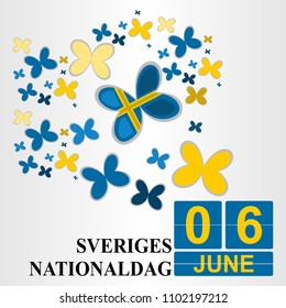 Sveriges Nationaldag (National Day of Sweden ) Vector Illsutration. Suitable for greeting card, poster and banner.
