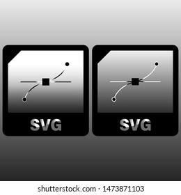 SVG file document icon. Download svg button icon isolated on gray background. SVG file symbol. Vector Illustration