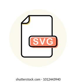 SVG file format, extension color line icon. Vector illustration