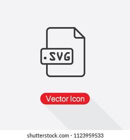 SVG File Icon Vector Ilustration Eps10