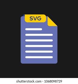SVG file type icon