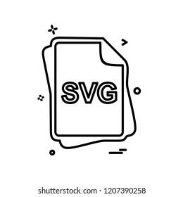 SVG file type icon design vector