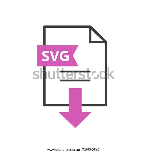 Svg Vector Icon Download File Simple Stock Vector (Royalty Free