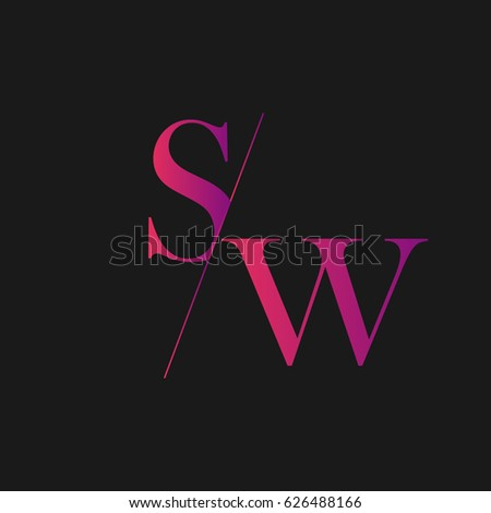 sw logo stock vector royalty free 626488166 shutterstock