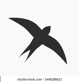 Swallow bird icon. Vector illustration.