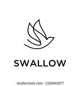 swallow bird logo icon designs vector