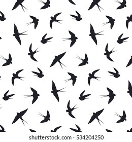 swallow bird silhouette vector pattern
