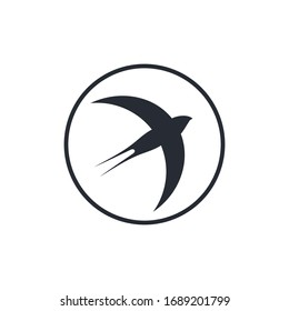 swallow bird logo images stock photos vectors shutterstock https www shutterstock com image vector swallow circle logo isolated on white 1689201799