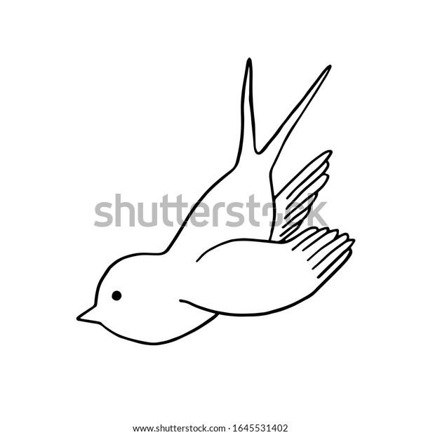 鳥 イラスト でる 飛ん