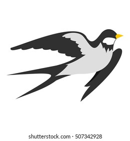 Swallow icon. Flat illustration of swallow vector icon for web