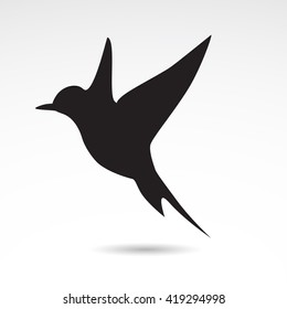 Swallow icon isolated on white background.