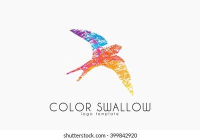 swallow logo images stock photos vectors shutterstock https www shutterstock com image vector swallow logo color design bird 399842920