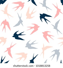 Swallow seamless pattern.
