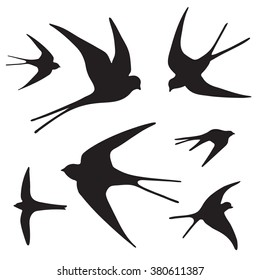 Swallow Silhouette Images, Stock Photos & Vectors | Shutterstock