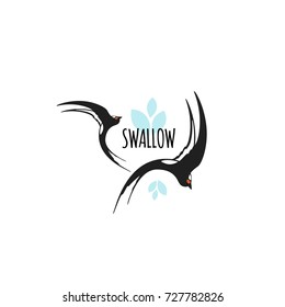 swallow logo images stock photos vectors shutterstock https www shutterstock com image vector swallow template logo emblem vector illustration 727782826