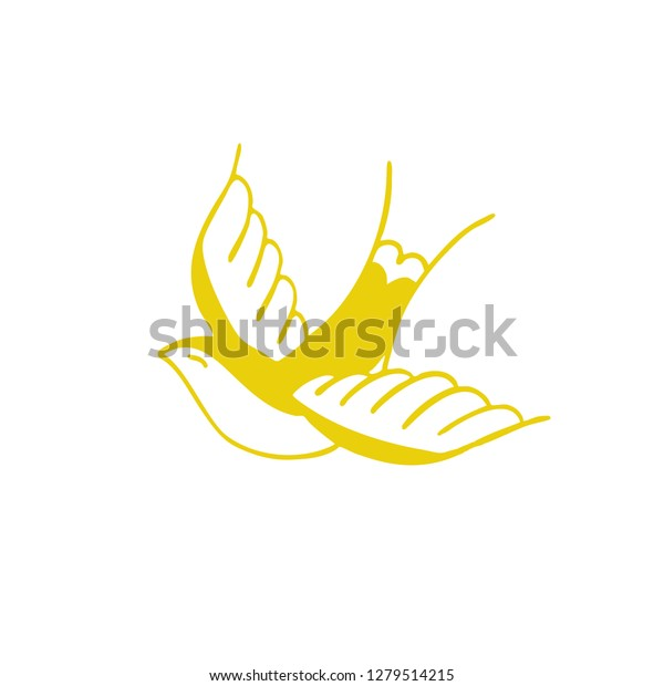 Amazing Swallow Traditional Tattoo Icon Stock Vector Royalty Free Theyellowbook Wood Chair Design Ideas Theyellowbookinfo