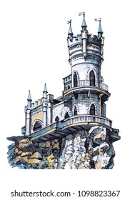 The swallow's nest castle. The Attraction Of The Crimea