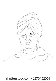 Swami Vivekananda illustration vector image