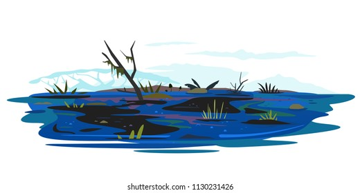Swamp Illustration Isolated