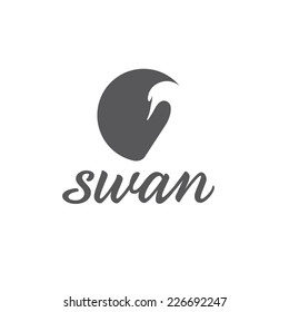 swan abstract illustration