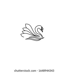 swan Icon vector sign isolated for graphic and web design. swan symbol template color editable on white background.