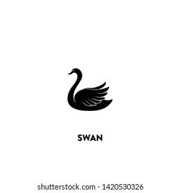 swan icon vector. swan sign on white background. swan icon for web and app