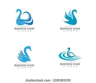 Swan logo design template