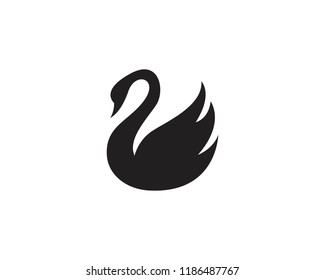 Swan logo and symbol vector
