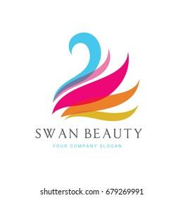 Swan Logo template.