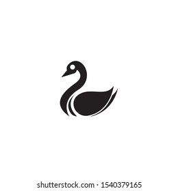 Swan logo template vector icon design